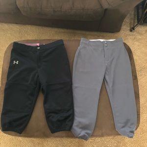 Under armor and intensity brand softball pants